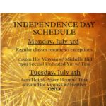 Independence Day Schedule