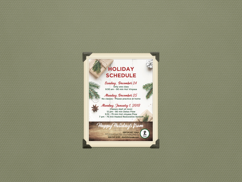 Holiday Schedule Sol.001