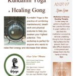 Don't miss out on MJ's Kundalini Yoga & Healing Gong!