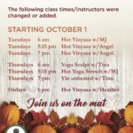 NEW CLASSES Coming in October!!!