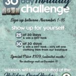 30 Day Holiday Challenge Starts Tomorrow!