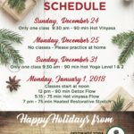 DHY Holiday Schedule